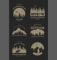 journey into wild set emblem t-shirt vector image