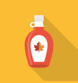 maple syrup bottle icon vector image vector image