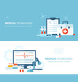 medical science technology concept flat vector image