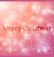 merry christmas abstract bokeh blur background vector image vector image
