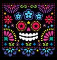 mexican folk art folk art design with skull vector image vector image