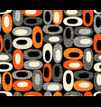 midcentury modern pattern organic ovals vector image vector image