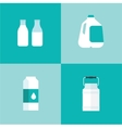 milk icon package types vector image vector image