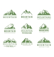 Mountain icons set