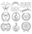 nautical fathers day digital stamps vector image