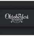 Oktoberfest vintage logo design background vector image vector image