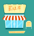 outdoor advertising market signpost vector image vector image
