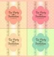 pastel cute flower and lace polka dot invitation vector image vector image