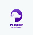 petshop abstract sign emblem icon or logo vector image
