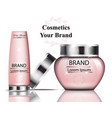 pink cosmetics packaging realistic vector image