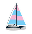 sailing boat style transport sea vector image vector image