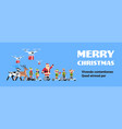 santa claus elf ride electric scooter drone vector image vector image