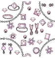 Seamless pattern with bracelets beads charms vector image vector image