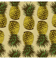 Seamless pineapple vector image vector image