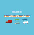 set modern city transportation or vehicle flat vector image