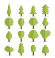 set of flat trees vector image vector image