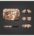 Set of stone different buttons vector image vector image