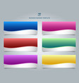set of templates business banner web design vector image