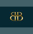 simple letter bb monogram stylish type gold