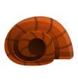 snail sea icon cartoon style vector image vector image