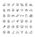 sports fitness outline symbols equipment vector image