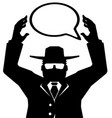 spy agent speech bubble vector image