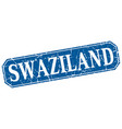swaziland blue square grunge retro style sign vector image vector image
