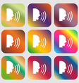 Talking Flat modern web icon Nine buttons with vector image vector image