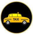 Taxi car button vector image vector image