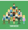Team success banner with business peole vector image vector image