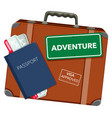 travel object on white background vector image