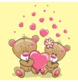 Two Bears with heart vector image vector image