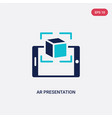 two color ar presentation icon from general-1 vector image vector image