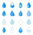 Water drop icons set vector image vector image