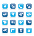 Weather and meteorology icons vector image vector image