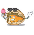 with ice cream oyster character cartoon style vector image vector image
