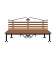 wooden bench isolated on white background vector image vector image