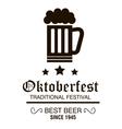 beer festival oktoberfest design vector image