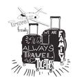 vintage lettering baggage for travel Travel vector image