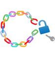 broken circle chain vector image