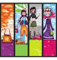 urban shopping girls banners vector image