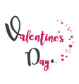 Happy Valentines day handwritten lettering card Fe vector image