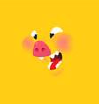 a cartoon yellow pig emotion a smile a pork vector image vector image