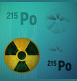 a radioactive isotope of polonium 215 vector image vector image