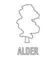 alder icon outline style vector image vector image