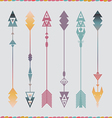 Art arrows collection vector image