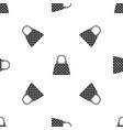 beautiful bag pattern seamless black vector image vector image