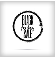 Black friday sales announcement in black charcoal vector image