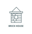 brick house line icon brick house outline vector image vector image