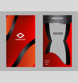 business card set design vector image